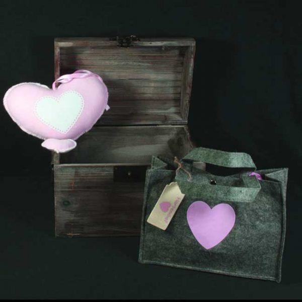 Muziekdoosje hart roze van Softly