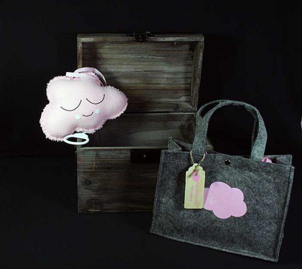 Roze wolk muziekdoosje voor de kleine meid