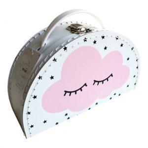 Geboortekoffertje wolk roze