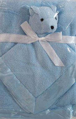 blauw dekentje met knuffekdoekje