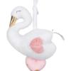 Dit lieve muziekdoosje heeft de vorm van een zwaan en is uit de serie Pastel Gold van Prenatal. Het muziekdoosje speelt het liedje rock a bye baby.