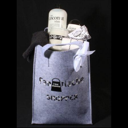 Cadeaupakket voor vrouw gevulde vilten shopper