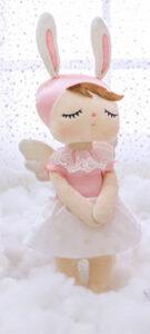Kraamcadeau meisje - Geboortemand met Metoo pop - Jill. Zoek je een schattig geboortecadeau voor een schattig meisje, dan is dit helemaal wat je zoekt