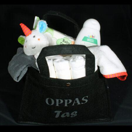 Oppas cadeau voor Opa en/of Oma, Handige gevulde vilten tas