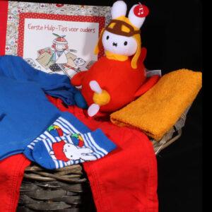 Prachtige geboortemand voor jongen met allemaal merk babyspullen