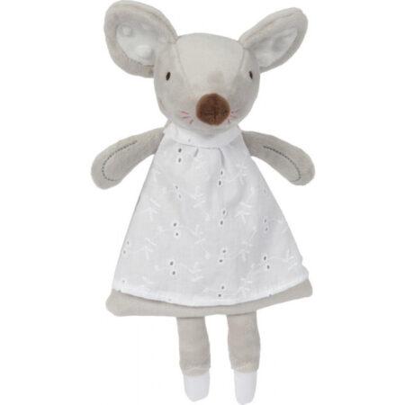 Cadeau voor geboorte meisje -vilten mand met Angelina ballerina. Een mooie vilten mand met Tiamo muziekdoosje, knuffeldoekje en muis bijtring