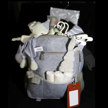 Zwangerschap en geboorte cadeau - Verzorgings rugzak gevuld. Een zeer luxe verzorgingsrugzak met spullen voor haar en de baby