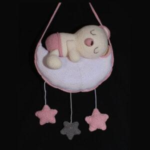 Geboortecadeau Prinsesje - Geboortebox met hangende muziekbeer. Een luxe doos met muziekbeer, speendoosje en babydoekjes hoes