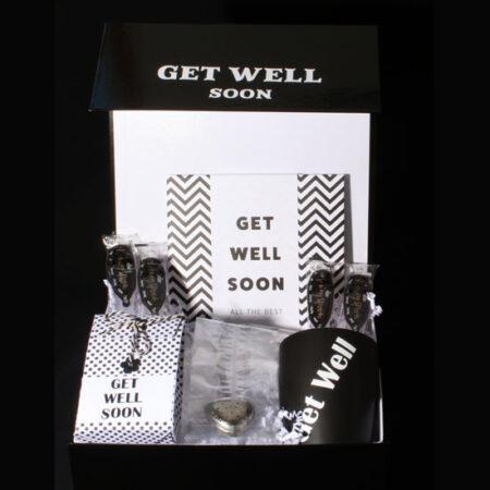 Modern beterschap pakket voor een zieke Get Well Soon
