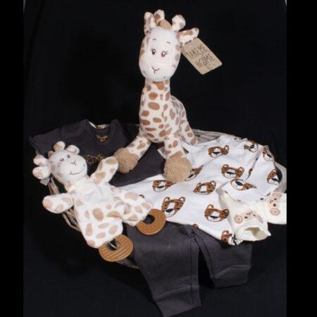 Geboortemand jongen - Cadeau voor geboorte jongen - Giraf. Een stoer en modern cadeau voor de geboorte van de kleine nieuwkomer